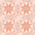 Quilt seamless pattern background star shape vector craft handmade design with eps vector illustration Stock Photo