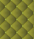 Quilted fabric green background with ornaments seamless Stock Photo