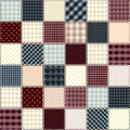 Quilting design in chess order seamless background texture Royalty Free Stock Images