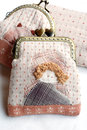 Quilting purses the hand sewing crafts Royalty Free Stock Photo