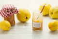 Quince marmalade delicious and lemon homemade Stock Photos