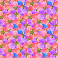 Quince. Seamless pattern texture of flowers. Floral background,
