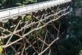 Quince Street Pedestrian Trestle Footbridge Royalty Free Stock Photo