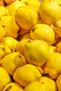 Quinces background texture fresh in market table Stock Photography