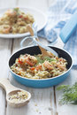 Quinoa and bulgur pilaf Stock Photos