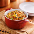 Quinoa casserole with corn bell peppers and ground turkey Royalty Free Stock Photography