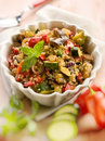 Quinoa salad vegetables selective focus Stock Images