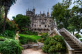 Quinta da regaleira the manor house in garden sintra portugal Royalty Free Stock Photo