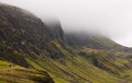 Quiraing mountain range, Isle of Skye, Scotland Royalty Free Stock Photo