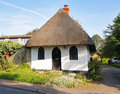 Quirky Thatched English Village Cottage Royalty Free Stock Photo
