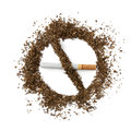 Quit smoking breaking the cigarette over white Royalty Free Stock Photography