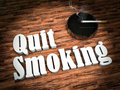 Quit smoking concept illustration of Royalty Free Stock Photos