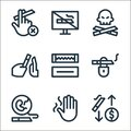 quit smoking line icons. linear set. quality vector line set such as save money, hand, pregnancy, quit smoking, gum, reject,
