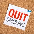 Quit Smoking Royalty Free Stock Photo