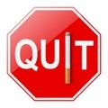 Quit smoking sign on white background Royalty Free Stock Photos