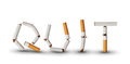 Quit smoking text made from broken cigarettes Royalty Free Stock Photography