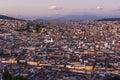 Quito capital city at sunset, Ecuador