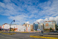 QUITO, ECUADOR - JULY 7, 2015: Famous and important neighborhood in Quito, sunny day with nice clouds Royalty Free Stock Photo