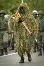 Quito, ECUADOR- MAY 24: National millitary parade Royalty Free Stock Images