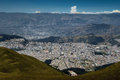 Quito ecuador view from the s teleferiqo the teleferiqo gondola lift in is one of the highest aerial lifts in the world Stock Images