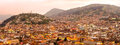 Quito Night Panorama Royalty Free Stock Photo