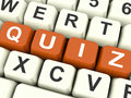 Quiz keys show test or questions and answers showing Stock Image