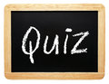 Quiz sign Royalty Free Stock Photo
