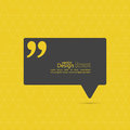 Quotation mark speech bubble and chat symbol Royalty Free Stock Image