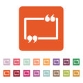 The Quotation Mark Speech Bubble icon. Quotes, citation, opinion symbol. Flat Royalty Free Stock Photo