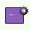 Quotation mark speech bubble quote sign icon banner and button Royalty Free Stock Photos