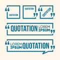 Quotation speech banner quote vector set icon Royalty Free Stock Photo