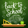 Quote Back to school Royalty Free Stock Photo