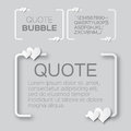 Quote bubble with hearts valentine s speech bubble paper cut style citation text box template applique blank text commas Stock Image