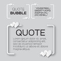 Quote bubble with hearts valentine s speech bubble paper cut style citation text box template applique blank text commas Stock Images
