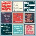 Quote motivational set
