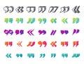 Quote sign icon text concept message bubble dialog symbol quotation citation vector quotation mark symbol