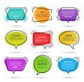 Quote speech bubble, text box, citation frame, colorful message banner isolated on white background. Vector illustration Royalty Free Stock Photo