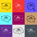 Quote speech bubble vector design template