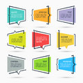 Quote speech bubbles set