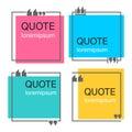 Quote square template