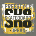 Quote typographical background about skateboard