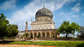 Qutub shahi tombs hyderabad the of the seven rulers in ibrahim bagh are located close to the famous golkonda fort Royalty Free Stock Images