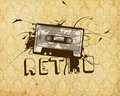 Rétro cassette Photo stock