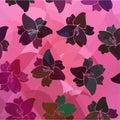 Rétro sans couture de modèle floral Photo libre de droits