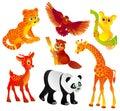 Różna zwierzę ilustracja dużo vector dzikiego Zdjęcie Stock
