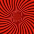 Röd sunburst Arkivbild