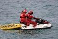 Röda korset maritim räddningsaktion och watercraft Fotografering för Bildbyråer
