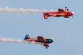 Rüsten sie bravo aus flugzeuge x sukhoi m Stockbilder