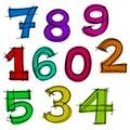 Ręka rysująca liczba. Fotografia Stock