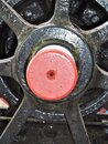 Close up Steam train locomotive wheel Royalty Free Stock Photo